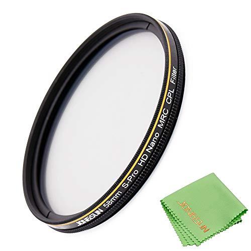 JONGSUN 58mm Polarizador Filtro, Circular Polarizer Filter, S-Pro HD Nano MRC16, 16-Capas Multicapa, Vidrio óptico NITTO AGC, Filtro CPL Para Lente De Cámara