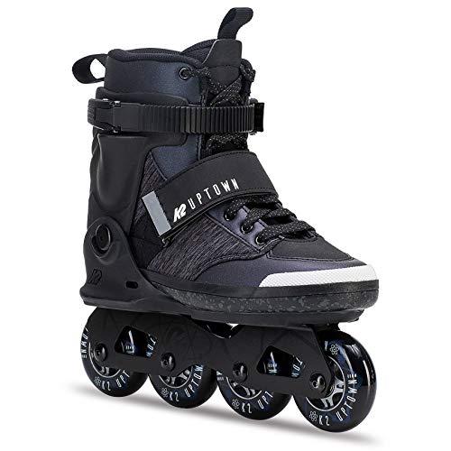 K2 Damen Herren Inline Skates Uptown - Schwarz-Grau - EU: 42 (US: 9 - UK: 8) - 30C0250.1.1.090
