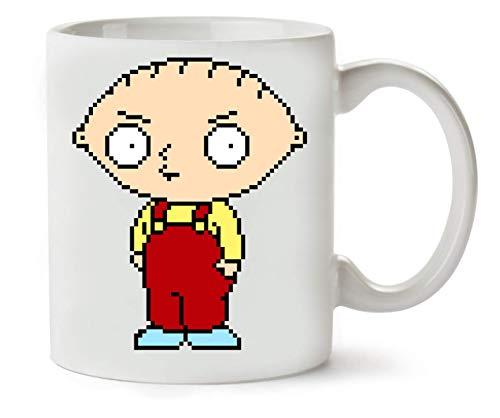 YoBrand Stewie Griffin In Pixel Taza para Café y Té