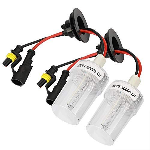 PMWLKJ 2 stücke 100 watt H7 6000 karat Hohe Helligkeit Auto Xenon Scheinwerfer Scheinwerfer Ersatzlampen Autozubehör