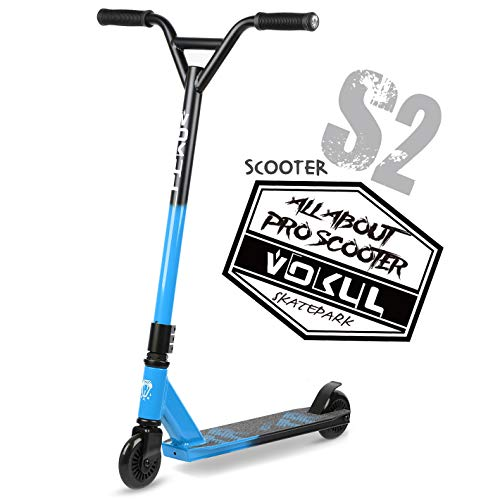 "VOKUL Pro Stunt Scooter with Stable Performance - Best Entry Level Tricks Freestyle Pro Scooter for Age 7 Up Kids,Boys,Girls - CrMo4130 Chromoly Bar - Reinforced 20"" L4.1 W Deck …"