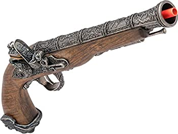 Evike HFC 18th Century Flintlock Pirate High Power Co2 Airsoft Pistol  Color  Silver