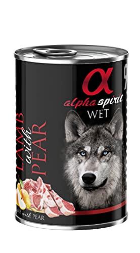 Alpha Spirit - Lata De Cordero Y Pera Para Perros, 1 Lata 400Gr