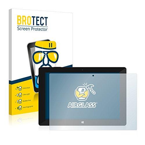 BROTECT Panzerglas Schutzfolie kompatibel mit TrekStor SurfTab Wintron 10.1 Pure - AirGlass, extrem Kratzfest, Anti-Fingerprint, Ultra-transparent