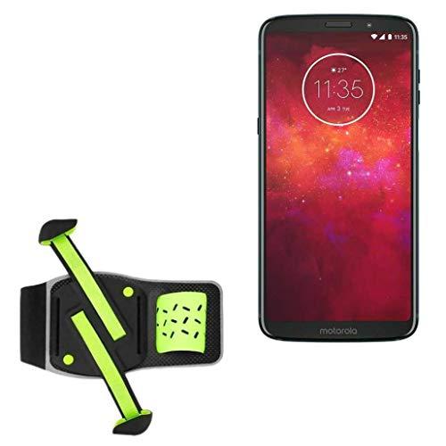 Coldre BoxWave para Motorola Moto Z4 Play [Braçadeira FlexSport] Braçadeira ajustável para treino e corrida para Motorola Moto Z4 Play – Verde escuro