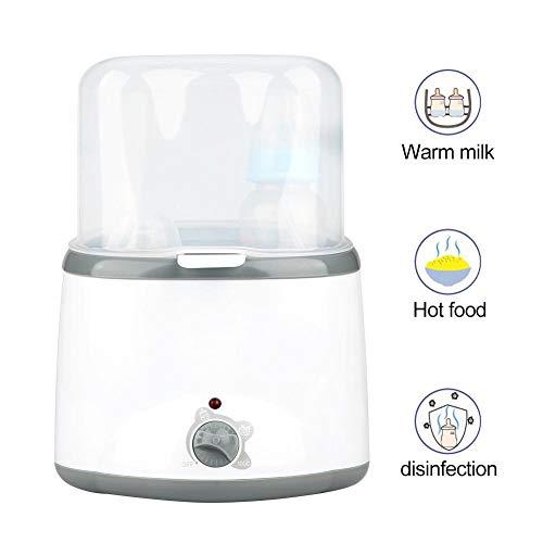 Babyfleswarmer en flessterilisator, Multifunctionla Portable Lightweight Baby Bottle Milk Warmer Sterilisator, Babyvoedingverwarmer(EU)
