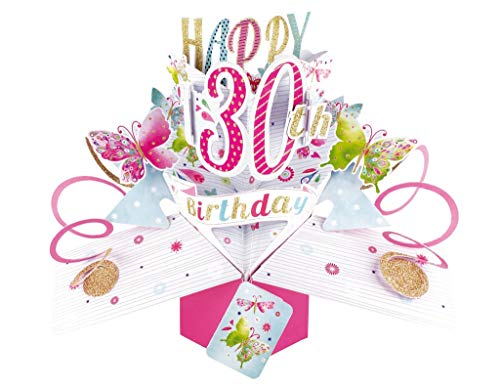 Second Nature Pop Up Greeting Card for a 30th Birthday Card