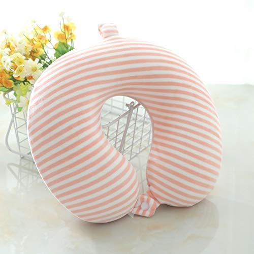 Almohada de cuello de algodón de memoria que protege el cuello para la rotura del almuerzo Almohada de viaje que protege la columna vertebral cervical raya en forma de U almohada