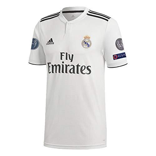 adidas Fußball Real Madrid CF Home Trikot 2018 2019 Heimtrikot CL Logos Herren Gr S
