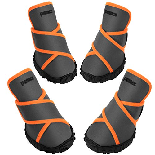 petacc Dog Boots Waterproof Dog Shoes for Large...