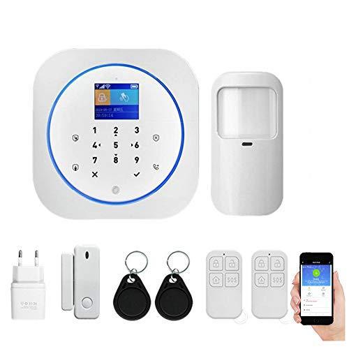 Sicurezza WIFI GSM Sistema di allarme intelligente Allarme 433 MHz Rivelatore Tuya APP Control Sistema di allarme wireless antimanomissione (Kit 1)
