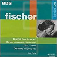 Piano Sonata in F / 15 Hungarian Peasant Songs by Annie Fischer