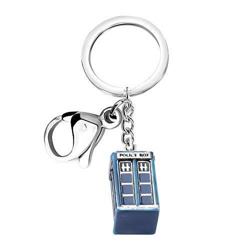 Doctor Who Keychain Police Box Charm Jewelry Tardis Gift Inspired Keychain Gifts For Doctor Who Fans (Doctor who Zipper Keychain)