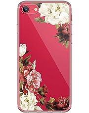 Carcasa de silicona Kinnter compatible con iPhone SE (2020), diseño original, transparente, ultrafina, TPU, antigolpes, funda para iPhone SE (2020)
