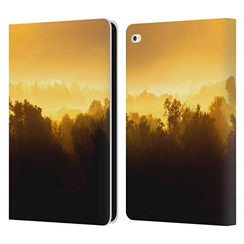 Official Patrik Lovrin Foggy Trees Magical Sunrise Leather Book Wallet Case Cover Compatible For Apple iPad Air 2 (2014)