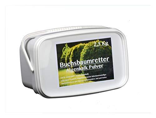 Stauden Gänge Algenkalk Pulver 2,5kg im Eimer/Buchsbaumretter/Das Original/mit Anleitung/Buchsbaum Kur/Buchsbaumdünger