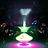Trompos, Trompos con Luz LED y Música, Giroscopio Eléctrico de Giro, Giroscopio de Luz Colorida, Giroscopio Intermitente para Niños, Juguete de Giro de Mano, Regalo para Niños, Color Aleatorio