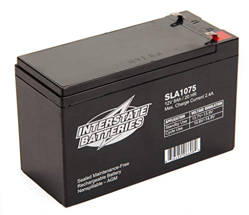 Interstate Batteries - SP12-7 12V 8AH SLA battery, .187 Faston terminals, (SLA1075)