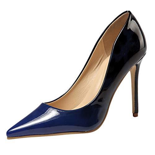 Oksea Damen High Heel Klassische Büro Pumps Moderne Spitzer Stiletto Pumps Basic Damenschuhe Elegante Stiletto High Heels für Büro Arbeit Nacht Kleid