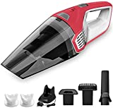 Homasy Portable Handheld Vacuum Cleaner Cordless, 6000Pa Powerful Cyclonic Suction Vacuum Cleaner, 14.8V Lithium with Quick Charge Tech, Wet Dry Lightweight Hand Vac