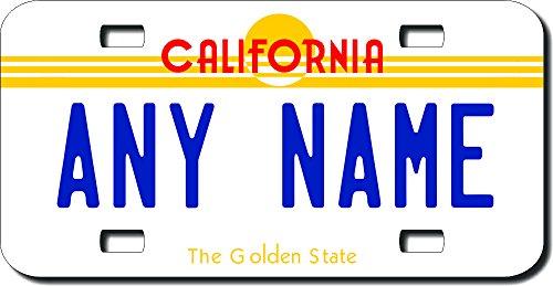TEAMLOGO Personalized California License Plate - Sizes for Kid's Bikes, Cars, Trucks, Cart, Key Rings Version 2 (2' X 4' Aluminum License Plate)