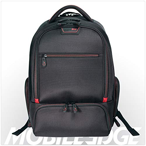 Mobile Edge Professional Laptop Backpack 16 Inch PC, 17 Inch Mac, Checkpoint Friendly, Adjustable Laptop Section, Padded Shoulder Straps, Trolley Strap, Black, Men, Business, MEPBP1