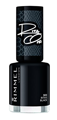 Rimmel Nail Polish 60 Seconds Super Shine By Rita Ora 900 Rita's Black Lakier do paznokci 8ml