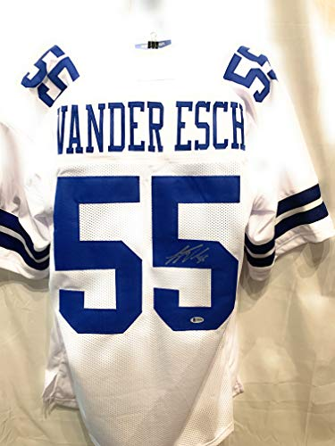 Leighton Vander Esch Dallas Cowboys Signed Autograph White Custom Jersey Beckett Witnessed Certified