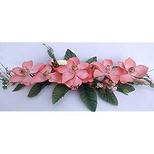 24″ Peach Magnolia Swag Silk Wedding Flowers Centerpiece Decor GF88pe