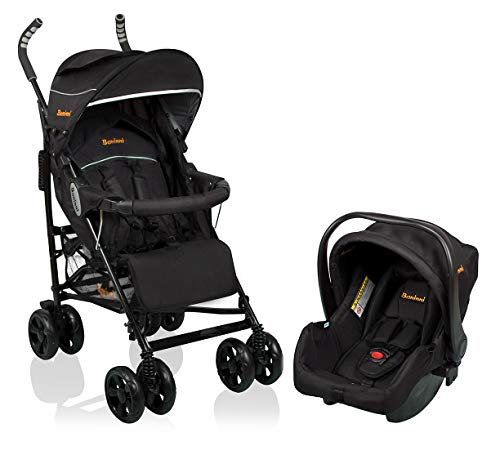 Baninni Kinderwagen Messina 2 in 1 - Night Edition Zwart