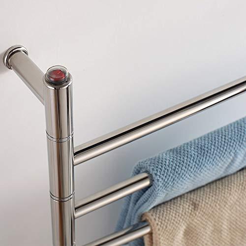QWSL toallero electrico Giratorio,toallero electrico de pie baño Calentamiento rápido y Temperatura...