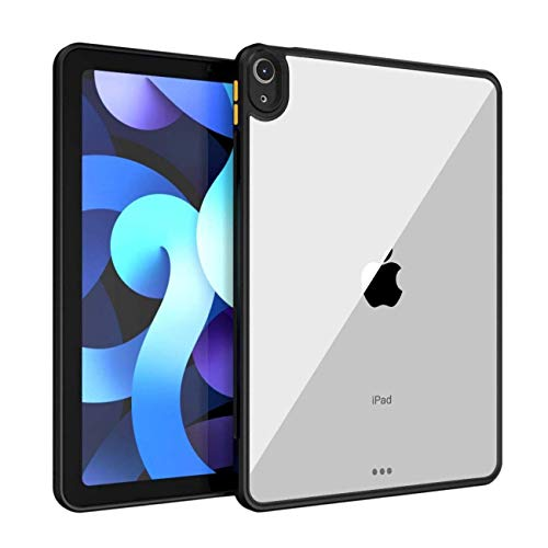 SQUIF Ultra Thin Shock Proof Clear Back Case Cover for iPad Air (2020) 10.9 inch – Black