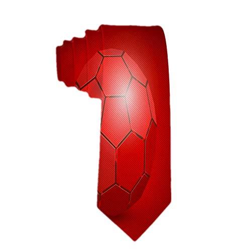Corbatas de poliéster para hombre Textiles Balón de fútbol abstracto 3D Corbata de seda roja Corbatas