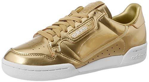 adidas Damen Continental 80 W Leichtathletik-Schuh, Gold Metallic Matte Gold Crystal White, 41 1/3 EU