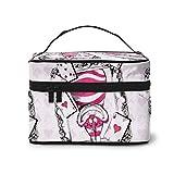 Bolsa de maquillaje, Alice Cheshire Cat Travel portátil bolsa de cosméticos grande bolsa de malla B organizador de artículos de tocador para mujeres y niñas