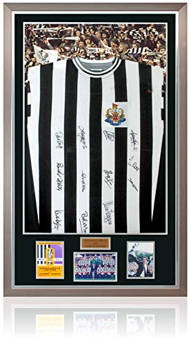 MBS Newcastle United 1969 Fairs Cup - Rplica de Camiseta enmarcada firmada...