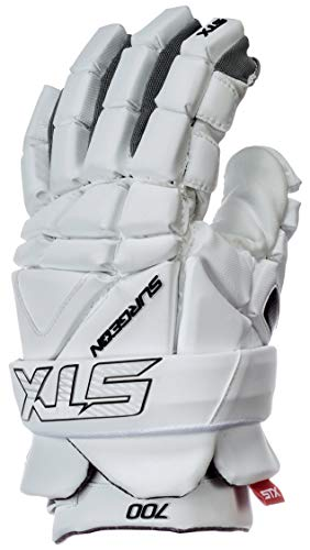 STX Lacrosse Surgeon 700 Gloves, Large, White
