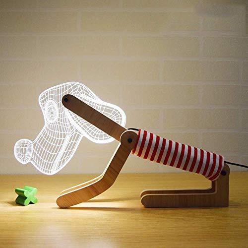 Bright love 3D Chien Style Lampe de Table Creative Lampe Cadeau LED Couple USB gaz atmosphérique Oeil lit Chien Lampe de Nuit,Red