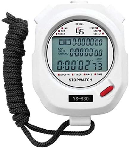 GLLP Cronómetro Temporizador Temporizador Ejecutar Fitness Training Game Electronic Sports Student Cronothatch Natación Baloncesto (Color : White, Size : 830)