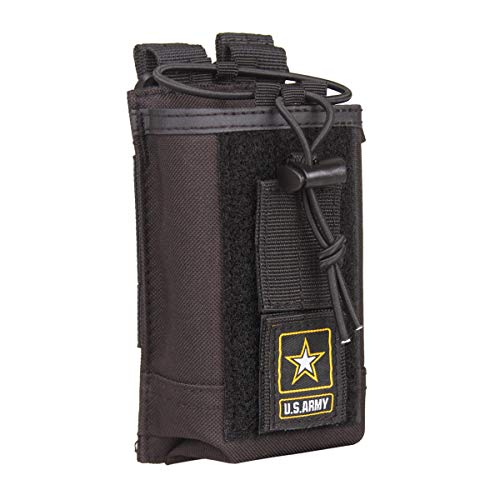 Radio Holder| Radio Holster | Molle Tactical Radio Pouch | Military Heavy Duty Radio Case Bag |for Two Ways Walkie Talkies Nylon Radio Holster(Black)