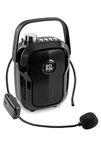 OSL OS-Xplode Portable Voice Amplifier with a Wireless Neckband Microphone, Bluetooth, FM Tuner, USB & SD Card Inpu