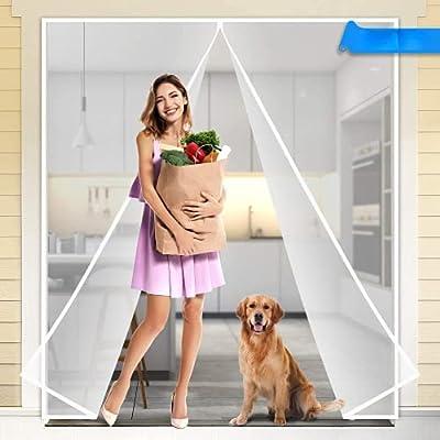 Amazon - 60% Off on  Magnetic Screen Door, Magic Mesh Screen Door, Door Net Screen with Magnets