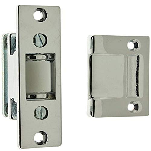 IDHBA idh by St. Simons 12017-026 Premium Quality Solid Brass Heavy Duty Silent Roller Latch with Adjustable Square Strike, Polished Chrome