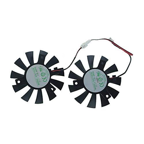 iHaospace GA71S2H Replacement Graphics Card Cooling Fan for ZOTAC GTX 1050 Ti 4GB OC Dual Cooler Fan 65mm