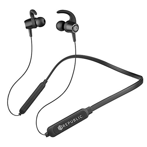 [Apply coupon] Nu Republic Cosmo in-Ear Bluetooth Neckband Earphones with Deep Bass, BT v5.0, 10mm Dynamic Drivers, 10 hrs Battery Life, Foldable Design, in-Line Controls with Mic-Black