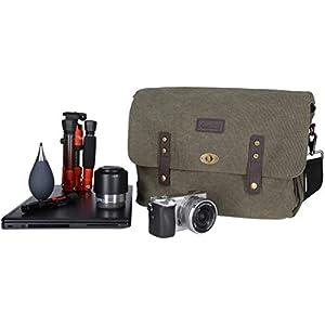 Rollei DSLR Vintage Bag - Bolsa para cámara réflex, marrón: Amazon ...