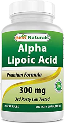 Best Naturals Alpha Lipoic Acid 300 mg 120 Capsules