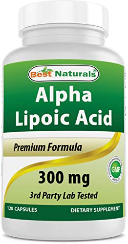 Best Naturals Alpha Lipoic Acid 300 mg 120 Capsules