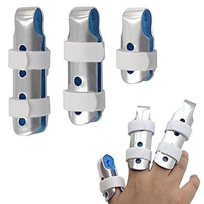 BRMDT Finger Splint Finger Brace For Thumb Pinky and Middle Finger, Reusable Finger Splints For Straightening, Stabilizer For Broken Finger, Relieve Arthritis Pain (Mixed) from BRMDT