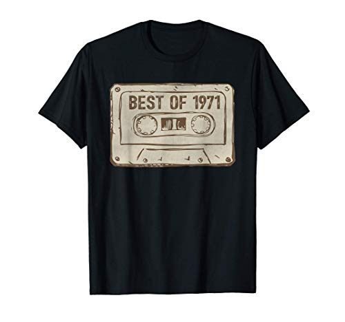 Best of 1971 Funny Vintage Cassette Tape 50th Birthday Gifts T-Shirt